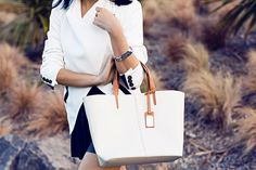 details: white leather | FASHIONDISTRACTION.com