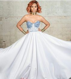 Who says a designer's bridal collection should always include a mix of the conventional wedding gowns? African Print Wedding Dress, African Wedding Attire, African Print Dresses, African Attire, African Fashion Dresses, African Dress, African Style, Xhosa Attire, African Traditional Wedding Dress