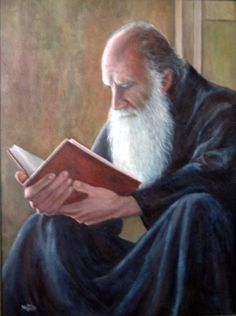 Old Man Reading by Lucha Olivares