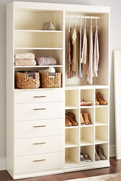 Create the closet you've always wanted with Pier 1's Madison Collection. Designed with custom configuration in mind, you can tailor your own arrangement for organizing and storing your clothing essentials. Available exclusively online.