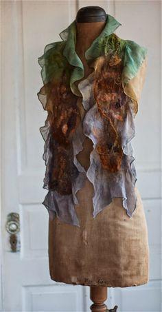 I will be delivering some shawls next week to a new gallery, Horse Spirit Arts Gallery near Ellicott City. I've had to crank out a few as. Beginner Felting, Needle Felting Tutorials, Nuno Felt Scarf, Felted Scarf, Felted Wool, Natural Dye Fabric, Spirited Art, Felt Dolls, Crochet Dolls