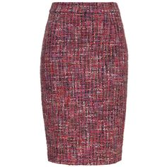 ESCADA Skirt Ravette ($695) ❤ liked on Polyvore featuring skirts, amethyste, zipper pencil skirt, escada, zipper skirt, knee length pencil skirt and purple skirt