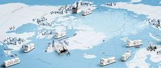 Arctic oil resources. Illustration by Jukka Pylväs. Published in newspaper Helsingin Sanomat 20.10.2013.