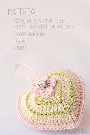 Anabelia craft design: Valentine's Day crochet heart with chart Crochet Chart, Crochet Motif, Crochet Hooks, Free Crochet, Knit Crochet, Crochet Butterfly, Crochet Flowers, Knitting Patterns, Crochet Hearts