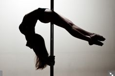 pole fitness... gives you great strength