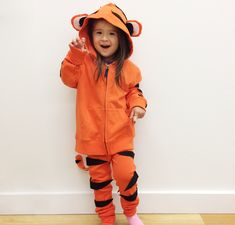 Recreate this easy DIY kids tiger costume by starting with super soft Primary basics. Shop solid color basics for kids & baby all under $25!