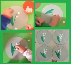 Sympa les clochettes en forme de coeurs ! Spring Activities, Infant Activities, Activities For Kids, Crafts To Do, Crafts For Kids, 1. Mai, Little Flowers, Working With Children, Diy Paper