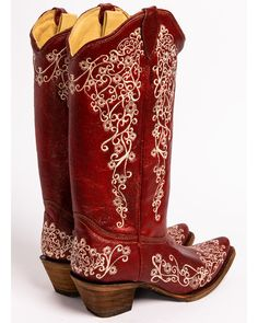 3ba37882828 Corral Women s Red Embroidery Boots - Snip Toe