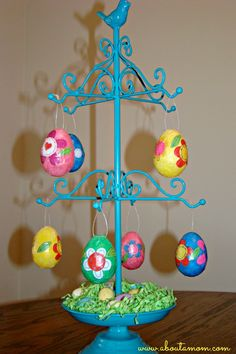 Decoupage Eggs Easter Craft - About A Mom