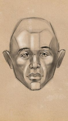 Digital chalk head study in Sketcbook Mobile.