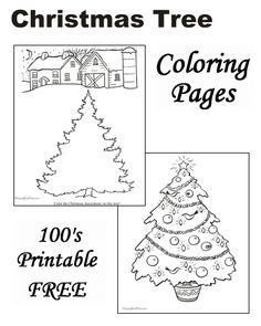 These Free Printable Christmas Tree Coloring Pages Are Fun For Kids Trees Santa And More