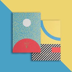 Big fans of the 8 cover designs Officemilano created for Write Sketch &'s first notebooks collection. Lots of good Sottsass love going on here. #pattern #Memphis #graphicdesign