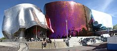 Frank Gehry, Experience Music Project and Science Fiction Museum and Hall of Fame (EMP SFM) is a museum dedicated to the history and exploration of popular music, science fiction and pop culture located in Seattle, Washington.