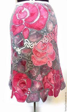 юбка пепел розы Freeform Crochet, Irish Crochet, Altered Couture, Irish Lace, Fashion Sewing, Flower Pictures, Felt Art, Crochet Clothes, Wool Felt