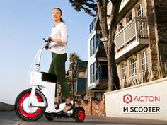 ACTON M Scooter by Peter Treadway + ACTON — Kickstarter.  An innovative, folding sit/stand scooter. Easy to ride for leisure, commuting, or at work. Super compact; fits in your closet or trunk.