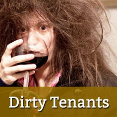 """Learn how to manage and avoid dirty tenants - keep your rental property clean with these tips and critical """"cleaning clauses"""" in your rental lease agreement Landlord Tenant, Being A Landlord, Income Property, Rental Property, Moving Out Checklist, The Tenant, Hotel Bed, Fun At Work, Property Management"""