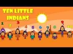 Ten Little Indians - Nursery Rhymes (+playlist) Abc Preschool, Kindergarten Themes, Thanksgiving Preschool, Math Songs, Kids Songs, Tribal Pattern Background, Indian Nursery, Ten Little Indians, Childhood Stories