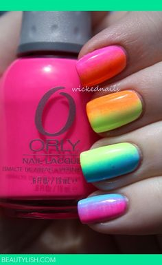 Rainbow Gradient Nails | Rylee W.'s Photo | Beautylish