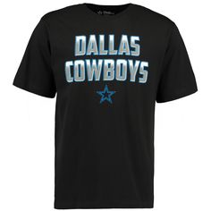Men's Dallas Cowboys  Black Electric Carbon T-Shirt