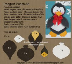 Alex's Creative Corner: Penguin Christmas card