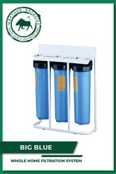Do you want safe and clean water for bathing and washing?  Try our Big Blue whole-home filtration system today. Solar Equipment, Bathing, Locker Storage, Pumps, Cleaning, Big, Water, Stuff To Buy, Home
