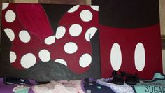 Minnie and Mickey canvas paintings I did for my cousin's baby room