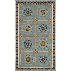 Shop for Safavieh Hand-hooked Easy to Care Light Blue / Dark Blue Rug (3' x 5'). Get free shipping at Overstock.com - Your Online Home Decor Outlet Store! Get 5% in rewards with Club O!