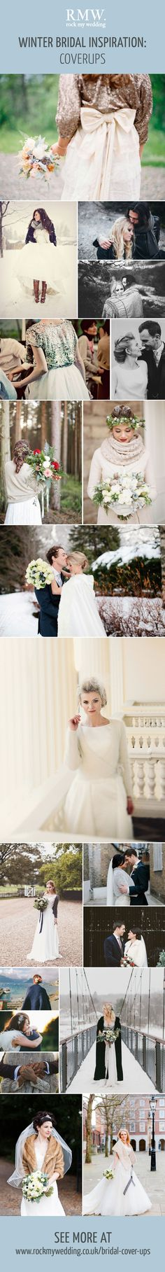 Bridal Cover Up Inspiration | Winter Bridal Fashion | Wraps | Shawls | Faux Fur Jackets | Sequin Cardigans | http://www.rockmywedding.co.uk/bridal-cover-ups/
