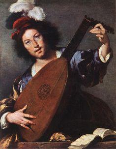 Lute Player by Bernardo Strozzi, Oil on canvas