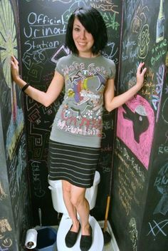Two Tees, One Dress #diy #tshirt dress from two shirts