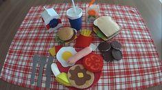 Keçeden Hazırlanmış Yiyecekler #Keçe Oyuncak-Felt Food