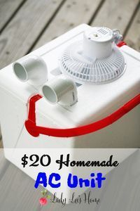 Here is a simple homemade AC unit that you can build in a just a few minutes. It cost me $20 and change, and it cools a room for a good couple of hours.