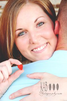 engagement heart prop kab photography DFW Texas
