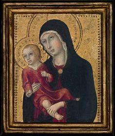 Sano di Pietro - Madonna col Bambino - c. 1465-1475 - tempera e oro su tavola - Middlebury College Museum of Art