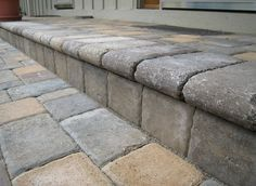 This is a nice way to re-do the plain concrete porch . . . and our's is small so it wouldn't take much!