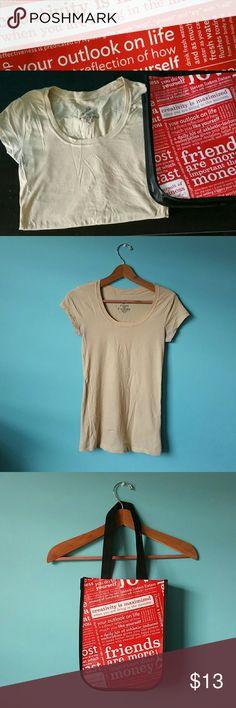 "Lululemon bag & casual T-shirt Bundle   1 lululemon bag  &  1 T-shirt size medium  ""Not lululemon brand only the bag is"" lululemon athletica Tops Tees - Short Sleeve"