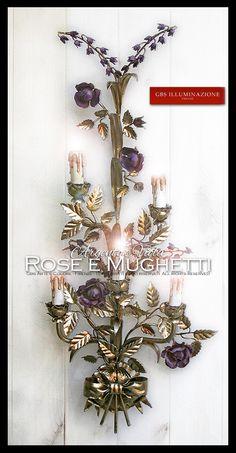 Applique Rose e Mughetti, Argento e Viola | GBS