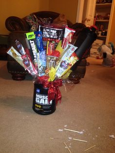 Valentines/Birthday gift for your gym junky boyfriend.