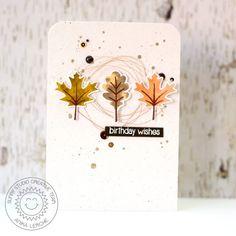 Sunny Studio Stamps: Autumn Splendor Fall Leaves Birthday Card By Anni Lerche.