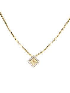 18K yellow gold #DavidYurman chain link necklace. #ShopNow