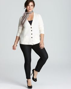 Cardi with leggings and scarf (maybe a little longer cardigan that would be more like a dress)