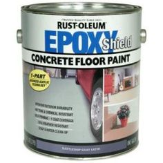 Bathroom Floor 1 Gallon Part Epoxy Concrete Paint 181461 At