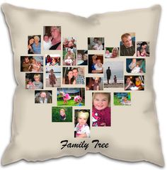 Family Tree Heart Collage Cushions - Sofa, Loving room, Bedroom, Bed Cushions Design printed on Faux Suede, Satin or Polyester Cushions Family Tree Photo, Family Photos, Photo Collage Design, Heart Collage, Vinyl Wall Stickers, Mom Birthday, Cushions On Sofa, Photo Wall, Canvas Prints