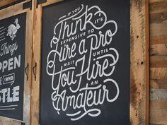 Chalkboard Red Adair Quote by Drew Ellis for NJI Media