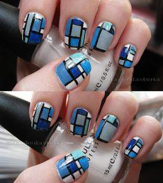 Attackedastoria Nails: Feelin' blue