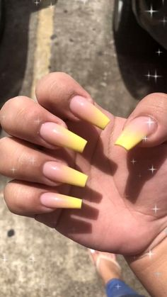 Claws claws claws 👅 nails in 2019 nails, acrylic nails, yellow nails. French Fade Nails, Faded Nails, Dope Nails, Mauve Nails, Acrylic Nails Natural, Summer Acrylic Nails, Best Acrylic Nails, Bright Acrylic Nails, Ballerina Acrylic Nails