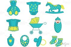 Check out Baby Clipart Elements in Vector by Pixejoo on Creative Market