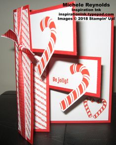 A Stampin' Up! Create Christmas Cards, Christmas Candy, Christmas Wishes, Xmas Cards, Handmade Christmas, Holiday Cards, Christmas Ideas, Home Made Candy, Accordion Fold