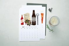 Gorgeous Illustrated Calendars to Help You Plan This Year: Beer Pairings