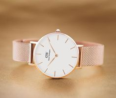 Buy Daniel Wellington Women's Petite Mesh Bracelet Strap Watch, Rose Gold/White from our Women's Watches range at John Lewis & Partners. Daniel Wellington Watch Women, Daniel Wellington Petite, Trendy Watches, Elegant Watches, Dw Watch, Watch Band, Rose Gold Watches, Gold Watches Women, Mesh Bracelet
